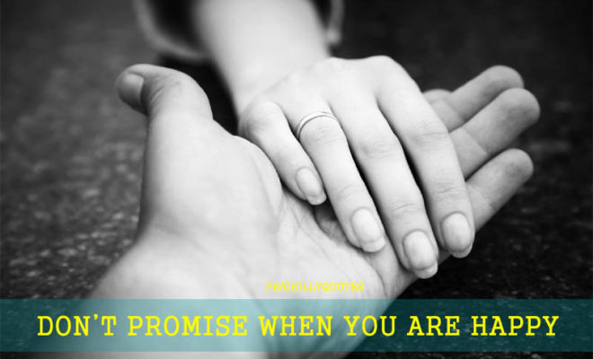 DONT PROMISE