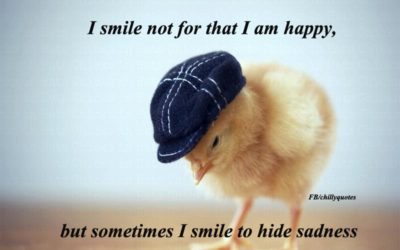 smile to hide sadness