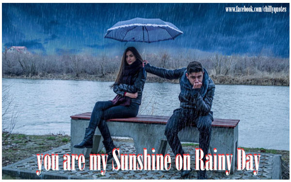 sunshine on rainy day