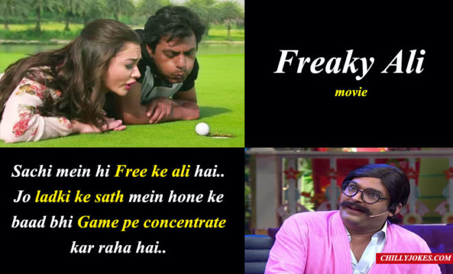 RAJESH ARORA JOKE ON FREAKY ALI