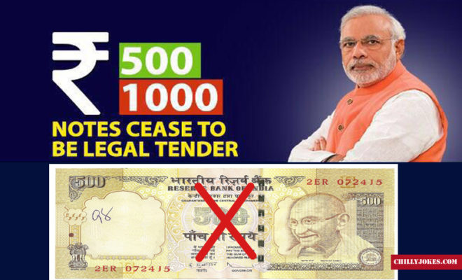 MODI SURGICAL STRIKE ON NOTES