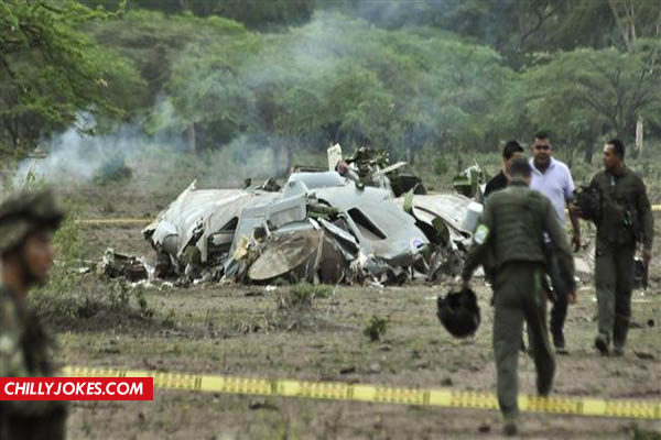 Plane was crash in Colombia