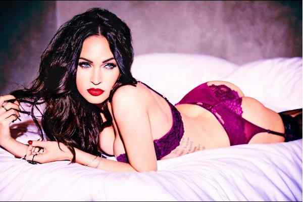 seductive image of Megan Fox to promote Frederick's Of Hollywood lingerieseductive image of Megan Fox to promote Frederick's Of Hollywood lingerie