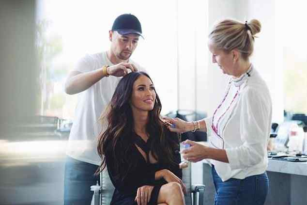 seductive image of Megan Fox to promote Frederick's Of Hollywood lingerie